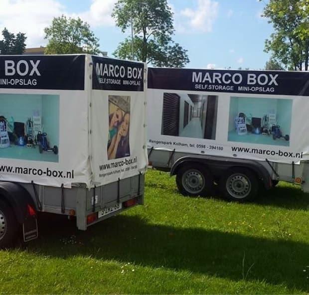 Gratis aanhanger te leen bij huur Marco Box!